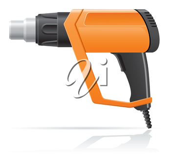 Royalty Free Clipart Image of a Hot Air Gun Dryer
