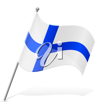 flag of Finland vector illustration isolated on white background