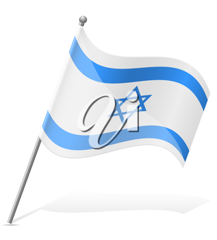 flag of Israel vector illustration isolated on white background