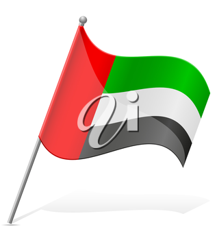 flag of United Arab Emirates vector illustration isolated on white background