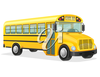 school bus vector illustration isolated on white background