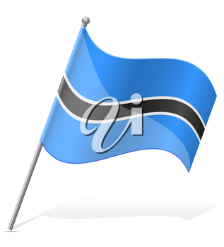 flag of Botswana vector illustration isolated on white background