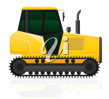 caterpillar tractor vector illustration isolated on white background