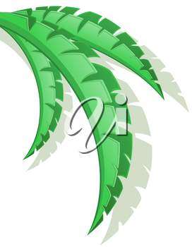 palm branch vector illustration isolated on white background