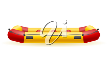 inflatable rafting boat vector illustration isolated on white background
