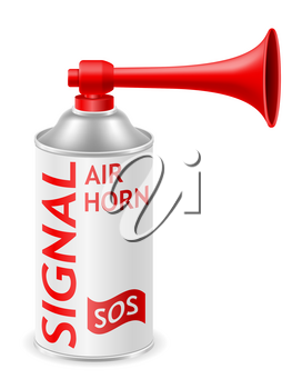 air horn for rescue sos or sports signals vector illustration vector illustration isolated on white background
