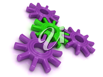 Royalty Free Clipart Image of Four Gears