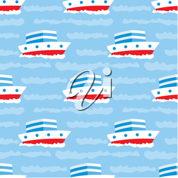 Royalty Free Clipart Image of a Ship Background