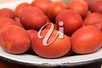 red eggs on the Orthodox Easter