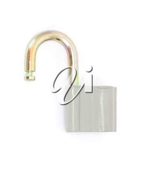 Padlock isolated on white background