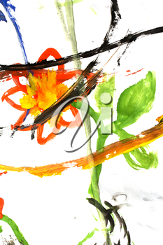 Abstract gouache drawing as a background