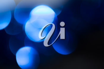 abstract background of beautiful blue bokeh festive
