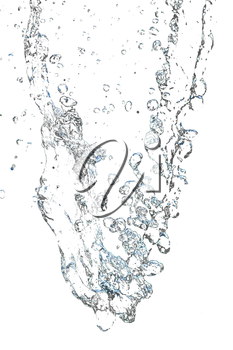 abstract background. with splashes of water on a white background
