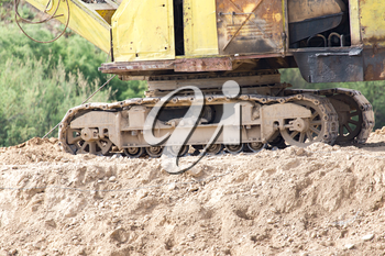 caterpillar tractor on the ground
