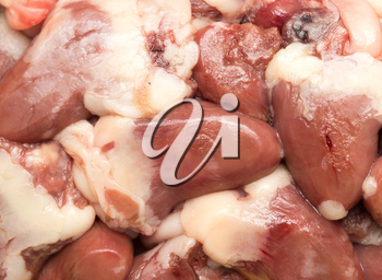 chicken hearts as background
