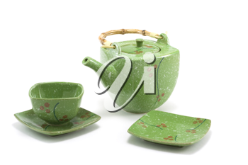 Royalty Free Photo of a Chinese Teapot and Teacup
