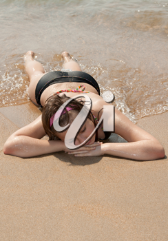 Royalty Free Photo of a Girl at the Beach