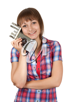 Royalty Free Photo of a Girl Holding a Camera