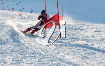 Royalty Free Photo of a Competitive Skier