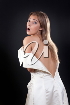 Royalty Free Photo of a Woman in a Wedding Dress