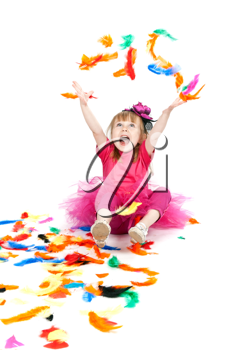 Royalty Free Photo of a Little Girl Playing