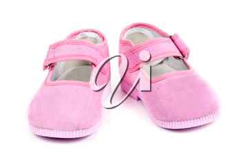Royalty Free Photo of Pink Baby Shoes