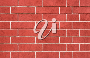 Red brick wall with straight rows