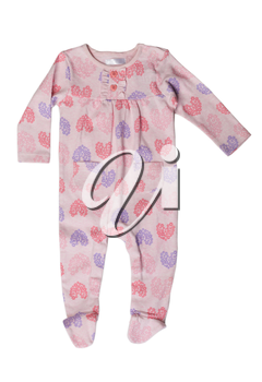 Pink rompers with a pattern. Isolate on white.