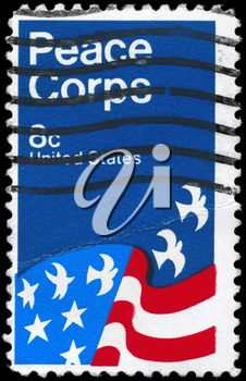 Royalty Free Photo of 1971 US Stamp Shows the Peace Corps Poster, by David Battle