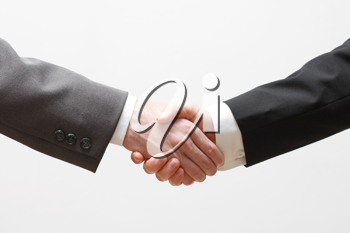 Royalty Free Photo of Two Businessman Shaking Hands