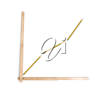 Royalty Free Photo of a Graph Made From a Ruler