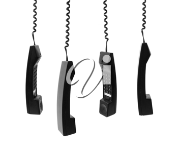 Royalty Free Photo of Telephone Receivers