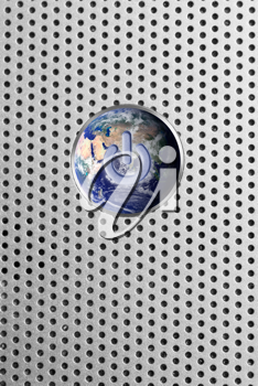 Royalty Free Photo of a Globe Power Button