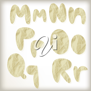 Royalty Free Clipart Image of Part of The Alphabet