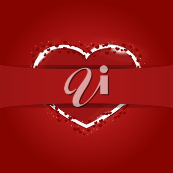 Royalty Free Clipart Image of a Heart with a Border
