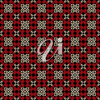 Vector Seamless Ethnic Pattern. Geometric Design. Can be used for textile, backgrounds, web, wrapping paper, package etc.