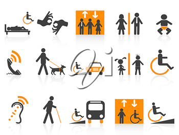Royalty Free Clipart Image of Accessibility Icons