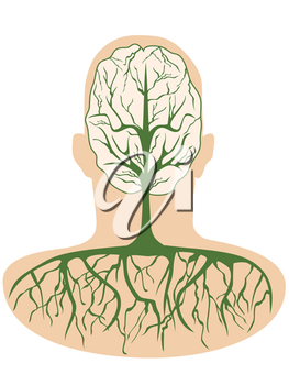 Royalty Free Clipart Image of a Brain
