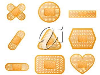Royalty Free Clipart Image of Bandages