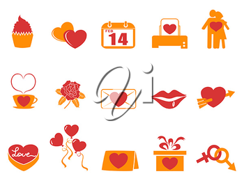 Royalty Free Clipart Image of Valentine's Day Icons