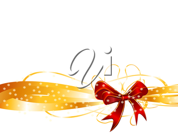 Royalty Free Clipart Image of a Red Bow Background