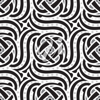 Royalty Free Clipart Image of a Black and White Pattern