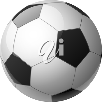 Royalty Free Clipart Image of a 3D Soccer Ball
