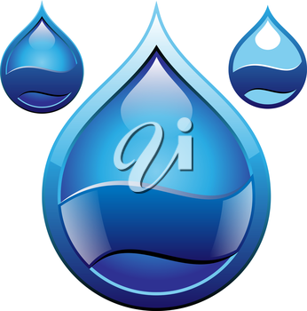 Royalty Free Clipart Image of a Droplet Icons
