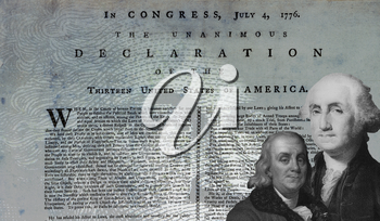 Royalty Free Photo of the American Declaration Of Independence