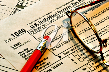 Royalty Free Photo of a Tax Form