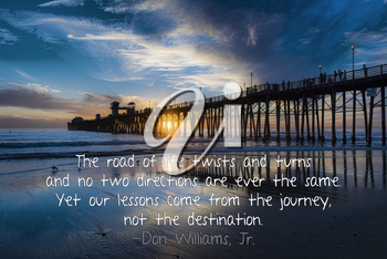 Royalty Free Photo of Words on a Twilight Background