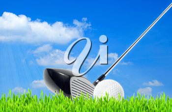golf, abstract sport backgrounds against the blue skies