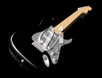 Royalty Free Clipart Image of an Electric Guitar