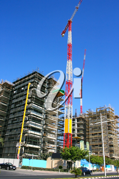 Royalty Free Photo of a Construction Site and Building in Limassol, Cyprus